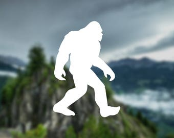 Sasquatch decal, Big foot decal, car decal, nature decal, wall decal, car sticker, window decal, nature sticker, gift, decal, door decal