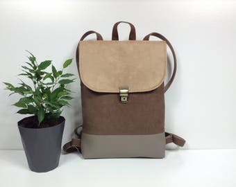 Vegan leather backpack,Bags and Purses,Traveling backpack,Laptop backpack