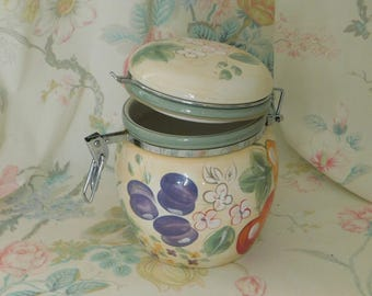 Jar, Home Decor, Jar with Locking Lid, Cookie Jar, Candy Jar, Container