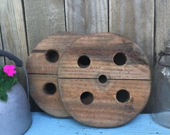 Vintage Salvaged Wood - Upcycling Project - Craft Project - Sewing Room Decor - Wooden Decor