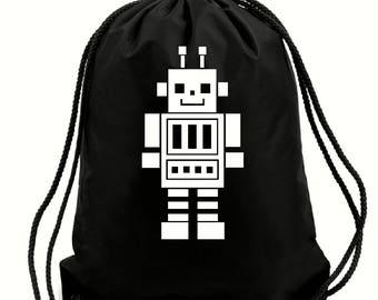 Chad robot bag,gym bag,school bag,water resistant drawstring bag,swimming wet bag