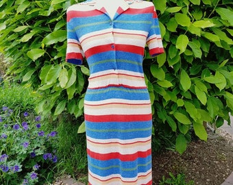 Vintage dress size 10 stripey summer dress by Rosies - Festival outfit ideas