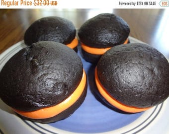 ON SALE: Perfect Halloween Homemade Black Velvet Whoopie Pies (1 Dozen)