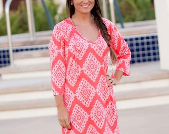 Coral Cove Tunic (Swimsuit cover-up)