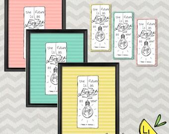 LDS Art, Faith Quote, Poster Bundle, Spring Colors, Hand drawn, Faith Quotes, Thomas S. Monson, lds bookmarks, lds handouts, LDS Decor,print