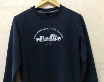 Vintage Ellesse Spellout Embroidered Logo Sweatshirt  Sweater / Medium Ladies Size