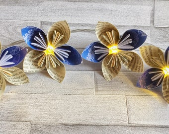 LED flower garland, made to order, fairy lights, bright, bold, colourful, wedding, party, nursery