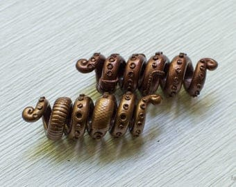 "Beads for dreadlocks ""Tentacles steampunk"""