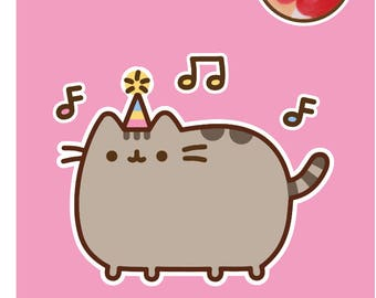 Pusheen The Cat Box Birthday Card With Jelly Bean Sweets - Party Time!