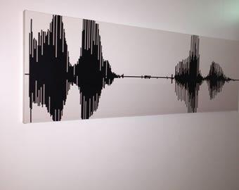 Soundwave canvas