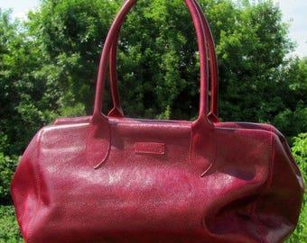 Leather bag  Gift for mom Shoulder bag Women fringe bag Burgundy leather purse  Handbag Gift for sister Birthday gift Boho Crossbody bag