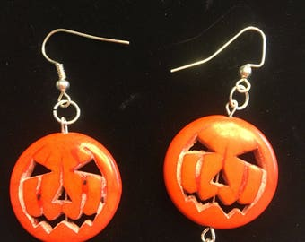 1 pair Jack-o-lantern earrings