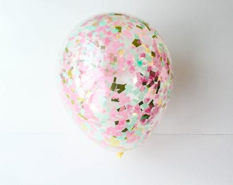 First Birthday/CONFETTI / CONFETTI BALLOONS / Baby Shower / Wedding / Birthday Party / baby / party supplies / party decor / balloons