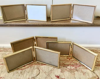 Gold Frames Brass Frames 3.5 x 5 Frame Metal Frames Brass Picture Frames Gold Picture Frames Table Number Holder Wedding Frames Photo Frames