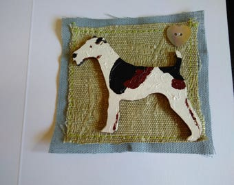 Wire Haired Fox Terrier greetings card