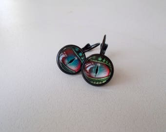 Dragon Eyes Cabochon Earrings - Various Styles & Colors