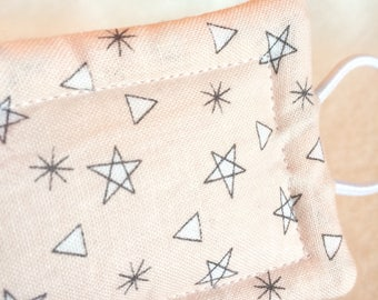 Stars and Triangles Taupe Modern, Door Cushion, Nursery Decor, Door Pillow, Door Silencer