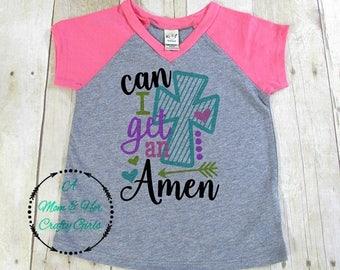 Can I get an Amen! /women's shirt/Pink/ v-neck