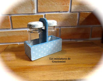 Miniature bottle holder -scale 1:12-dollhouse miniature-
