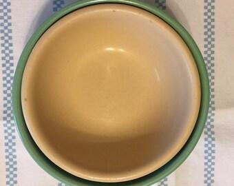 Vintage Nested Pastel Bowls.
