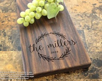 Personalized Cheese Board, Engraved Cheese Plate - Mr and Mrs, Wedding Gift, Anniversary Gifts, Housewarming Gift, Corporate Gift. 413