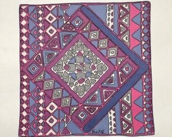 Vintage Handkerchief, Vintage Hankie, Vintage Linens, Gift for Her, Thank You Gift, Vintage Accessories, Pocket Square
