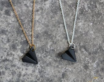 Origami Paper Airplane Necklace