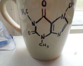 Caffeine Molecule Coffee Mug! Chemistry Student? Drink Coffee? If Yes, Then You Need This Mug! Molecular Structure Science Nerd Art Organic