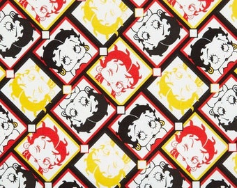 Camelot Betty Boop - Betty Boop Tiles Premium 100% Cotton fabric (N127)