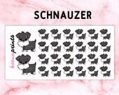 20% OFF A110   Schnauzer stickers, dog Stickers - Daily Planner Stickers, Diary Stickers, Journal Stickers, Scrapbook stickers
