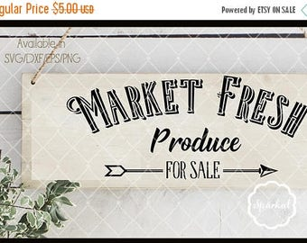 ON SALE Market Fresh Produce, Cutting files Svg-Dxf-Eps-Png.  These can be used as stencils or vinyl decals