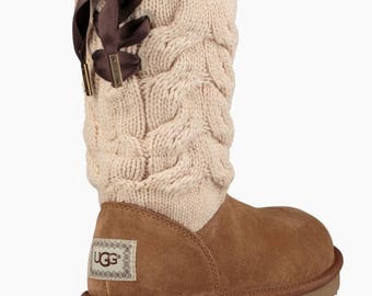 NEWLY released UGG Kiandra!!!  Knit and Suede! Great for PLUS size calves!