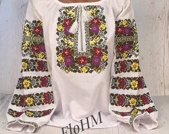 Ukrainian Embroidered Blouse Vyshyvanka, Folk Blouse