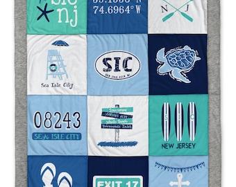 Sea Isle City Gray Destination Blanket