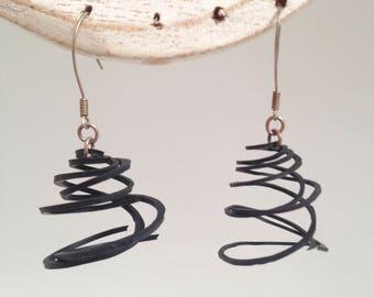 rubber spiral earrings