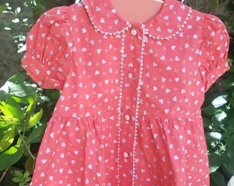 French vintage / girl's dress was 18 months / french vintage dress