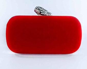 Red & Diamante Statement Clutch