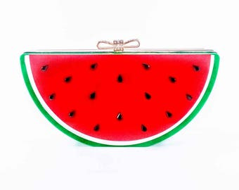 Watermelon Statement Clutch