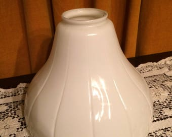 Large Early 1900's , Schoolhouse, Industrial, Kitchen, Milkglass, Ceiling, Globe, Fixture Shade