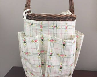 Insulated Picnic Basket -Wine Basket - Insulated Wine Basket- Old World Style Wine Basket- Alfresco Dinner Basket for the Garden