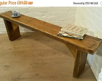 Summer Sale FREE DELIVERY! 5ft Hand Made Reclaimed Old Pine Beam Solid Wood Dining Bench