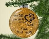 Pet Loss Ornament - Pet Memorial Ornament - Personalized Dog Loss Ornament - Personalized Cat Loss Ornament - Pet Loss Gift - Pet Memorial