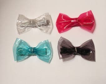 Plastic Bow Hair Clips Variety Pack