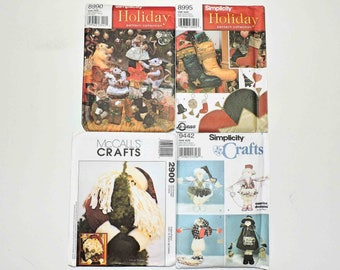 Simplicity and McCall's Christmas Crafts Sewing Patterns 8990 8995 9442 2900