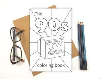 90s TV Show Coloring Book - Favorites - Fun!