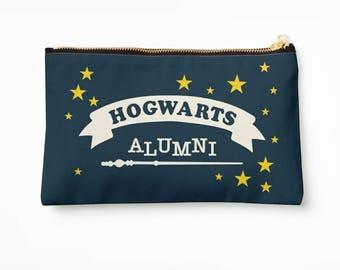 Hogwarts Alumni - Hogwarts Pencil Case, Harry Potter Pencil Case // Makeup Pouch Bag // School Accessories // Stationery