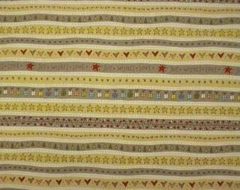1 YD - Celebrating Christmas Border Stripe Fabric by Henry Glass & Company