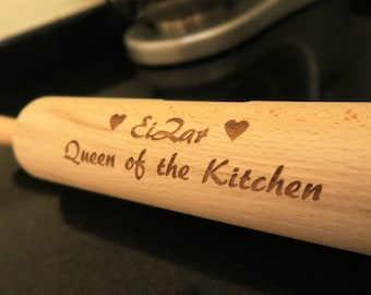Personalised Rolling Pin - Wooden | Gift for bakers