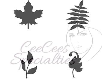 Leaf Assortment Stencil
