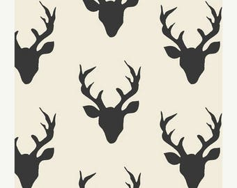 SALE Stag curtain   Black and white curtains   kids blackout curtains   Hipster curtain   nursery curtains   custom drapes   window drapes